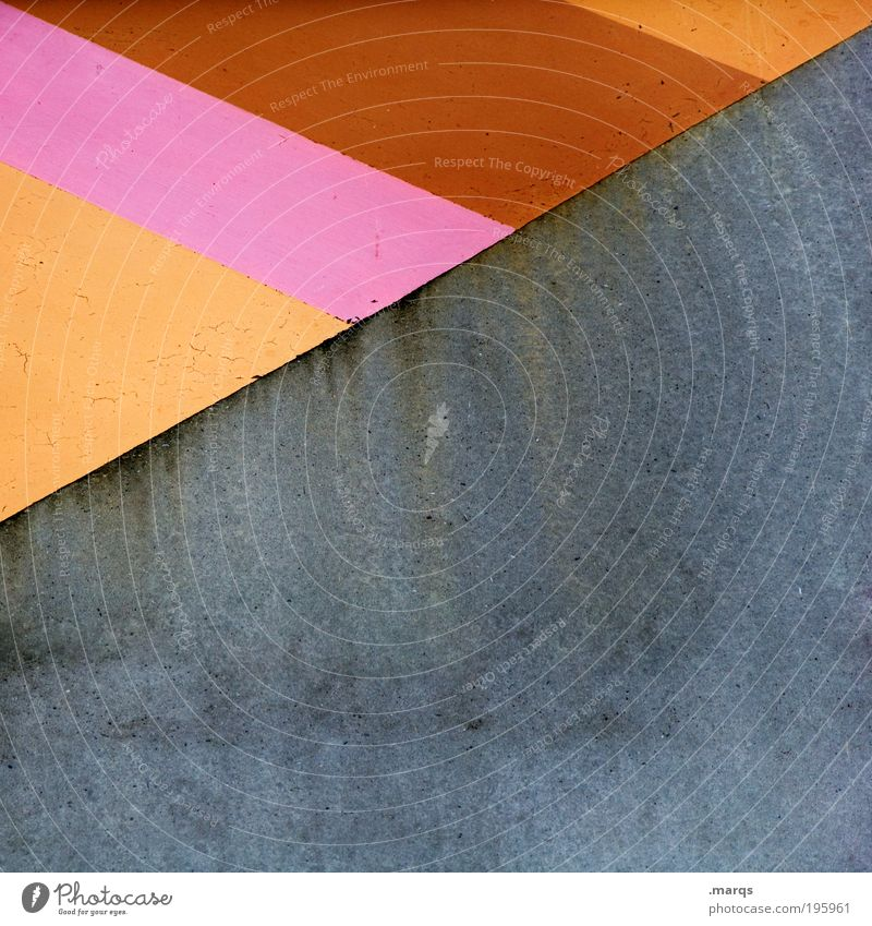 Colourful and uncoloured Elegant Style Design Wall (barrier) Wall (building) Facade Concrete Line Stripe Simple Hip & trendy Uniqueness Retro Brown Gray Pink