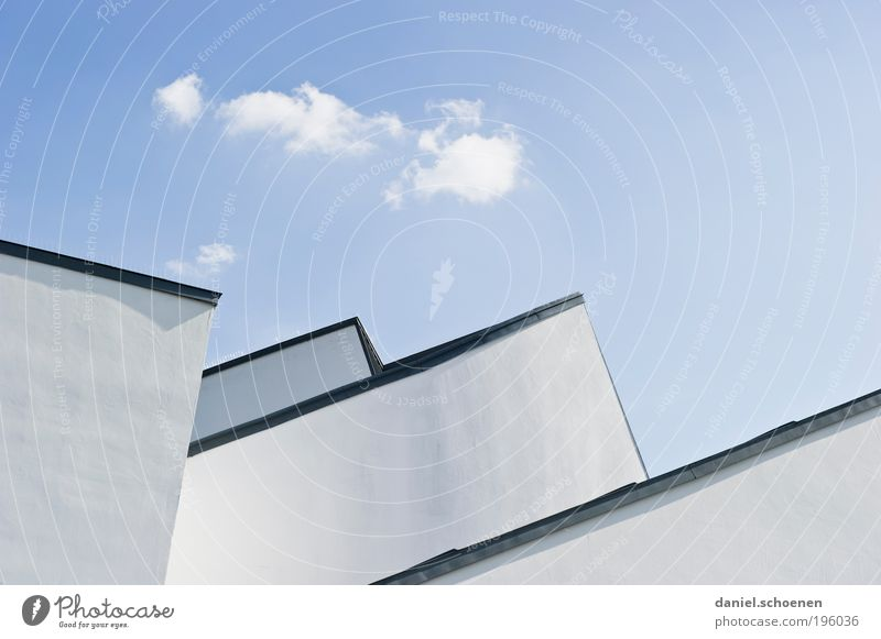 Blue White Summer Wall (building) Architecture Wall (barrier) Building Bright Facade Climate Roof Point Beautiful weather