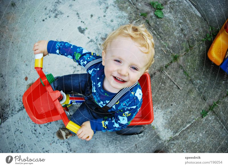 Child Joy Playing Boy (child) Movement Garden Infancy Happiness Driving Toys Toddler Brave Kindergarten Parenting Human being Passenger traffic