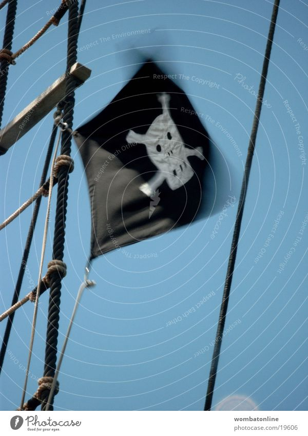 Watercraft Wind Flag Obscure Pirate Death's head