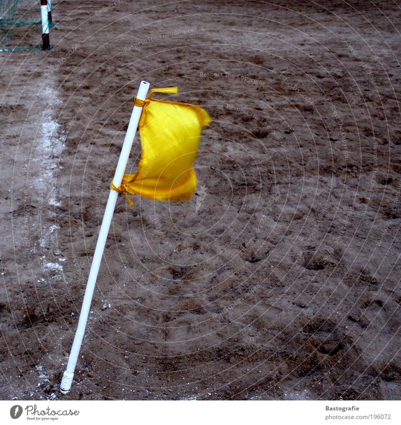 Yellow Sports Playing Sand Line Soccer Signs and labeling Earth Corner Lawn Goal Pole Chalk World Cup Ball sports Foul