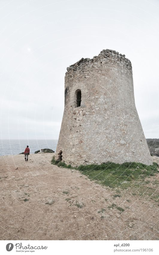 Tower of Babel Human being 1 Environment Nature Landscape Air Sky Bad weather Palma de Majorca Going Authentic Dark Brown Red Bravery Cool (slang) Optimism