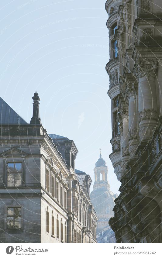 #A# Dresden in view I Work of art Esthetic Frauenkirche Alley Tourist Attraction Domed roof Church Church congress Tower Baroque Building Part of a building