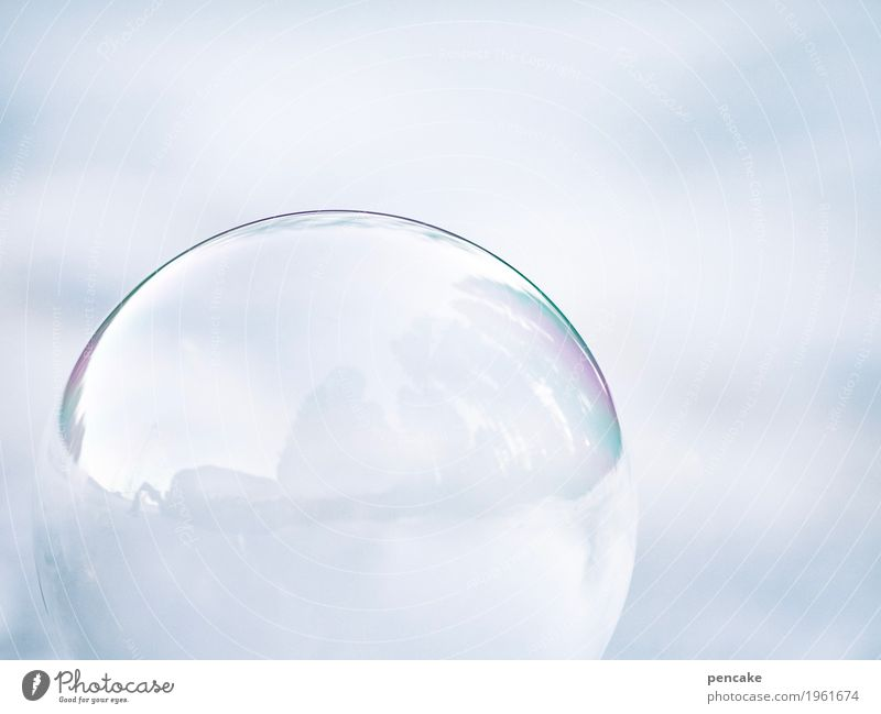 Risk pang! It's over! Nature Elements Winter Ice Frost Snow Balloon Glass Esthetic Soap bubble Frostwork Sphere Bursting Tension Colour photo Subdued colour