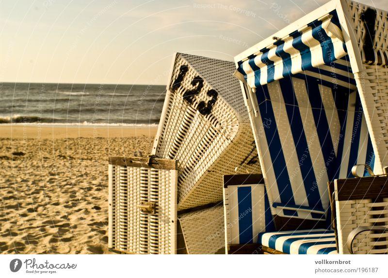 beach chair whispering Vacation & Travel Tourism Far-off places Summer Sun Beach Ocean Island Beach chair Sand Sunlight Beautiful weather Coast North Sea Sylt