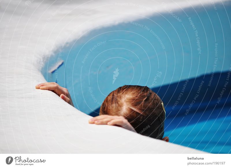 Human being Child Hand Vacation & Travel Girl Head Infancy Swimming & Bathing Wet Swimming pool Hotel 3 - 8 years Tenerife Spain Hotel pool Puerto de la Cruz