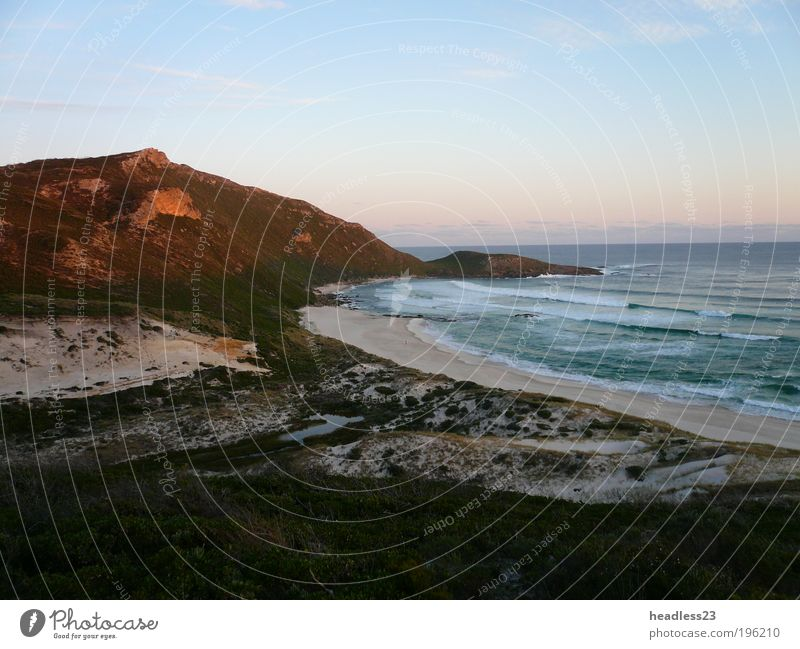 Sunset on a deserted beach South Australia Nature Vacation & Travel Beautiful Water Loneliness Landscape Beach Grass Coast Moody Sand Dream Waves