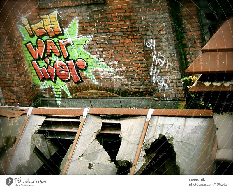 City Red Dark Wall (building) Window Graffiti Wall (barrier) Dirty Facade Esthetic Broken Characters Industry Roof Change Factory