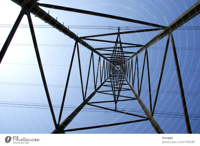 Sky Blue White Green Sun Summer Black Air Metal Energy industry Large Trip Electricity Network Industry Technology
