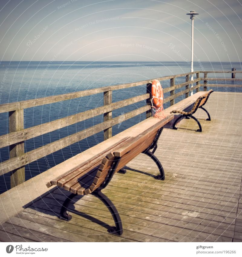 Water Vacation & Travel Sun Summer Ocean Far-off places Relaxation Freedom Coast Horizon Trip Tourism Island Safety Bench Beautiful weather