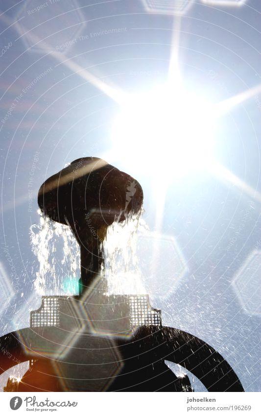Sky Blue Water Beautiful Sun Summer Emotions Happy Park Art Glittering Wet Design Drops of water Esthetic Illuminate