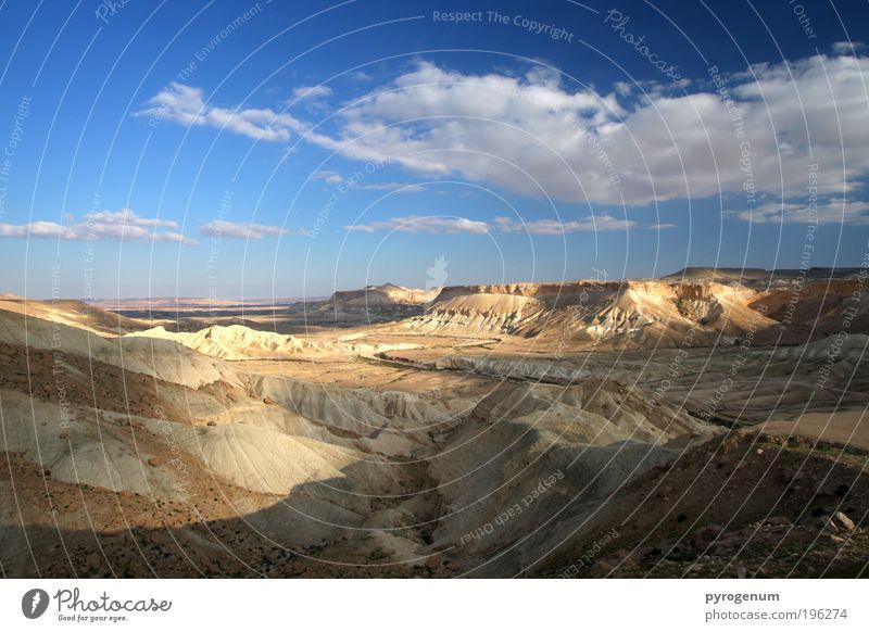 Sky Blue Sand Landscape Brown Horizon Earth Desert Beautiful weather Location