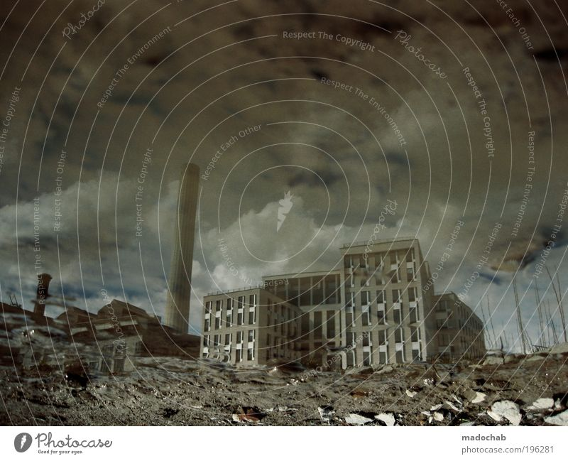in wonderland Climate change Weather Frankfurt Town House (Residential Structure) Industrial plant Factory Ruin Architecture Dark Creepy Broken Fear