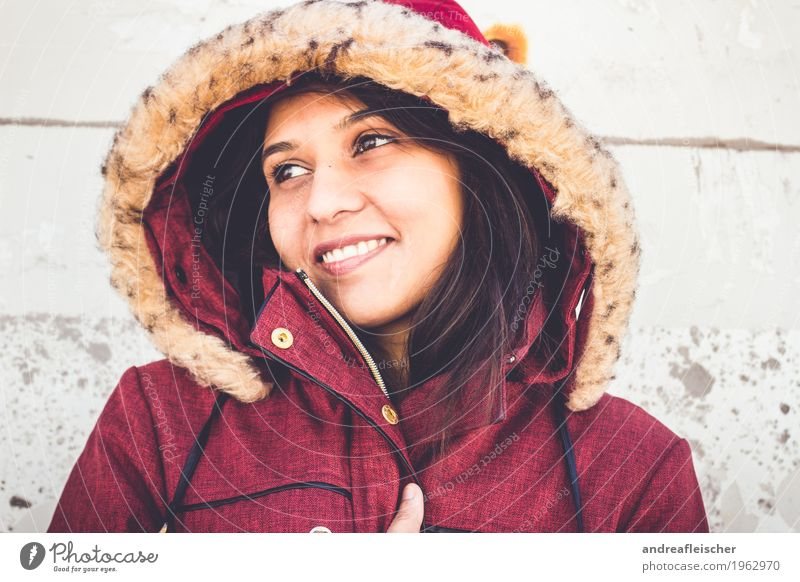 Pallavi 09 Feminine Young woman Youth (Young adults) Life 1 Human being 18 - 30 years Adults Coat Black-haired Long-haired Smiling Happiness Contentment