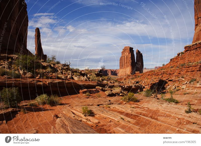Nature Sky Clouds Landscape Environment Beautiful weather Wanderlust Arches National Park