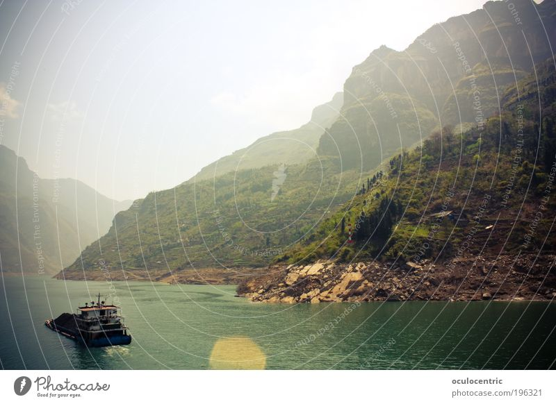 Three gorges Travel photography Vacation & Travel Tourism Trip Far-off places Cruise Summer Sunbathing River River bank Nature Landscape Plant Water Sky