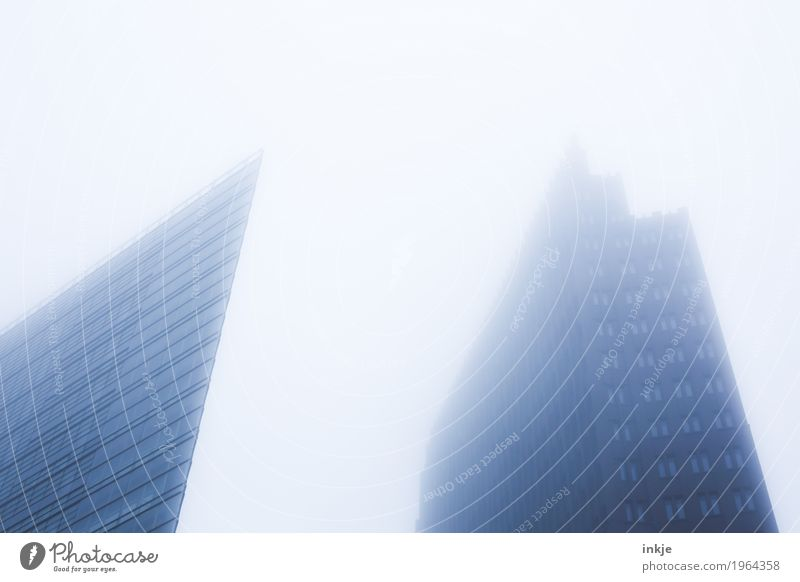 Sky Town Winter Architecture Cold Autumn Berlin Fog High-rise Gloomy Large Tall Point Skyline Capital city Downtown
