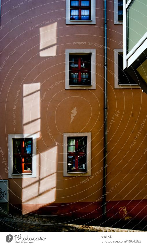 Old Town House (Residential Structure) Window Street Wall (building) Car Window Building Wall (barrier) Germany Facade Illuminate Simple Historic Balcony Old town