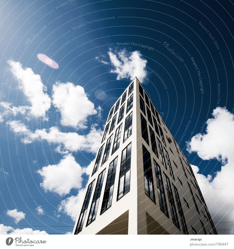 House (Residential Structure) Clouds Work and employment Window Building Business Architecture Large High-rise Tall Facade Modern New Bank building