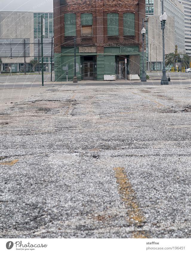City Loneliness Street Dark Building Concrete Gloomy USA Broken Authentic Asphalt Historic Distress Ruin Downtown