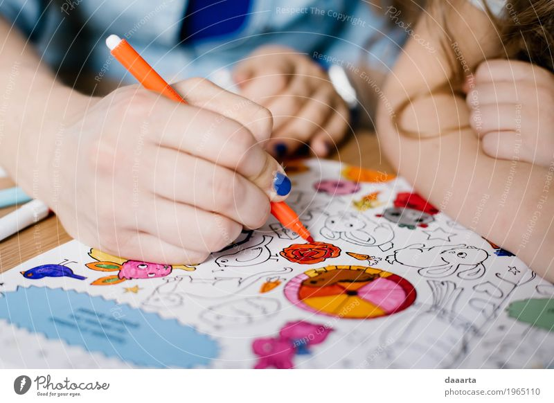 Paint your book Colour Hand Joy Life Lifestyle Emotions Feminine Style Family & Relations Playing Happy Freedom Moody Orange Leisure and hobbies Happiness