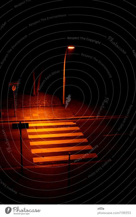 City Street Dark Fear Concrete Dangerous Creepy Sidewalk Street lighting Night Mistrust Road sign Zebra crossing Lanes & trails
