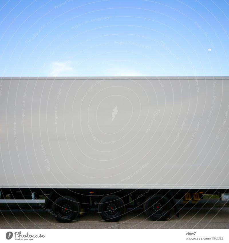 White Far-off places Dark Line Metal Large Transport Arrangement Esthetic New Logistics Authentic Simple Stripe Long Truck