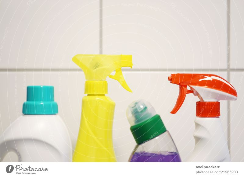 detergents Living or residing Bathroom Clean Tile Bottle Neck of a bottle Cleaning agent Housekeeping Multicoloured Spray bottle Household chemicals Toilet