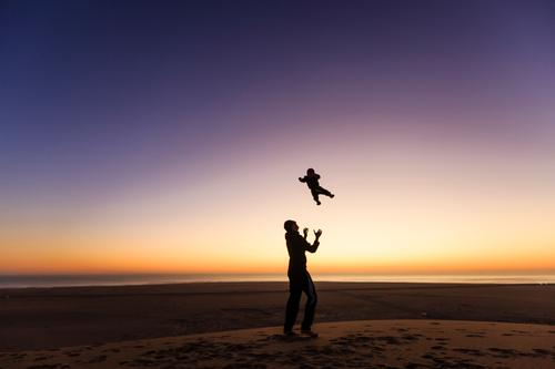 Human being Child Nature Vacation & Travel Youth (Young adults) Young man Landscape Ocean Joy Far-off places 18 - 30 years Adults Boy (child) Family & Relations