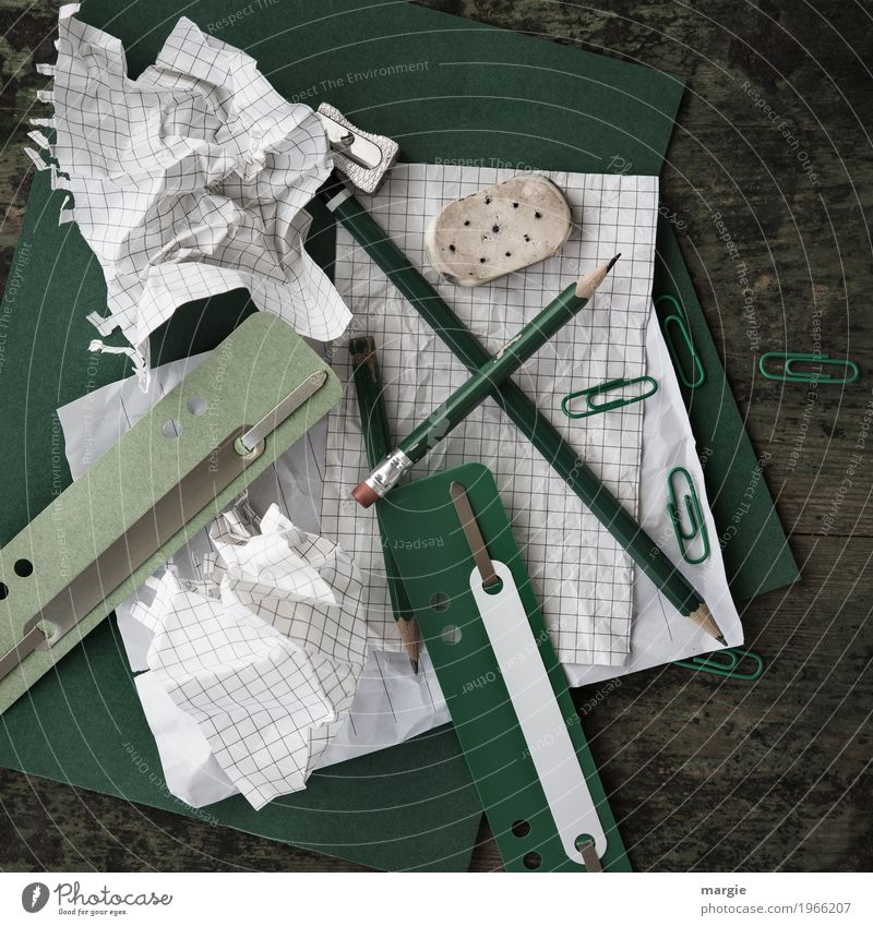 Green White Business Work and employment Office Study Paper Academic studies Write Education Profession Wrinkles Advertising Industry Chaos Pen Checkered