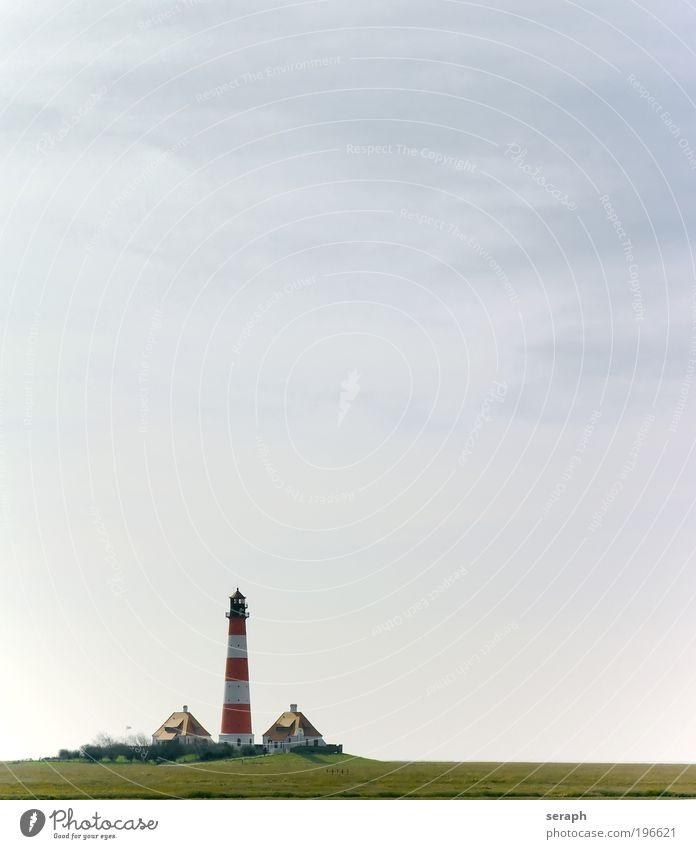 Freedom Bright Lighthouse Baltic Sea North Sea Rural Tide Floating Flood Ocean Eyderstedt Schleswig-Holstein North Frisland Westerhever