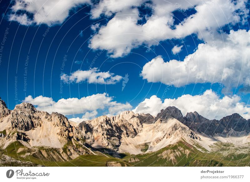 Clouds and shadows in the Dolomites II Central perspective Deep depth of field Sunbeam Sunlight Light (Natural Phenomenon) Silhouette Contrast Shadow Day