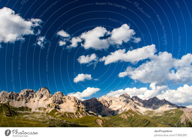 Clouds and shadows in the Dolomites Central perspective Deep depth of field Sunbeam Sunlight Light (Natural Phenomenon) Silhouette Contrast Shadow Day