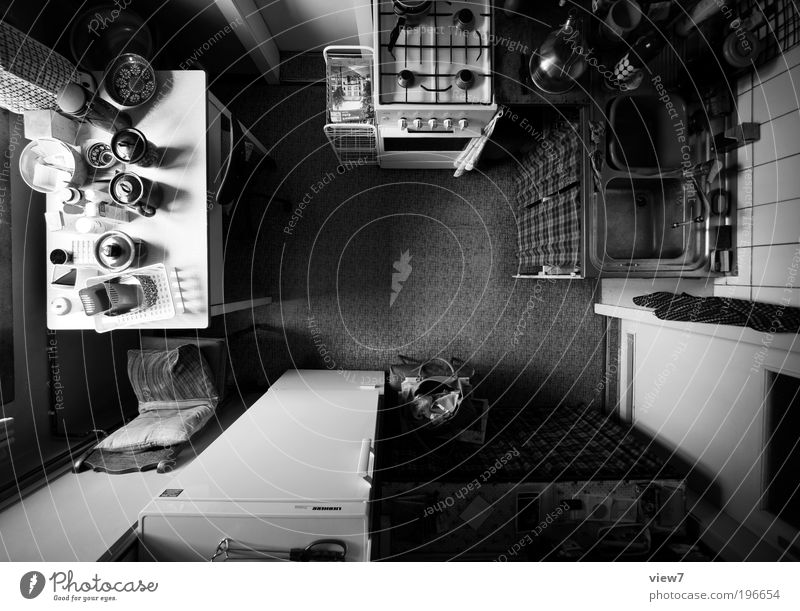 Far-off places Dark Above Line Contentment Moody Room Flat (apartment) Large Crazy Table Perspective Arrangement Gloomy Kitchen Authentic