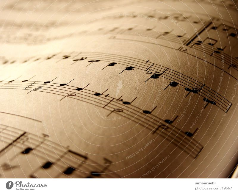 sheet of music Sheet music Leisure and hobbies Music Musical notes score Macro (Extreme close-up)