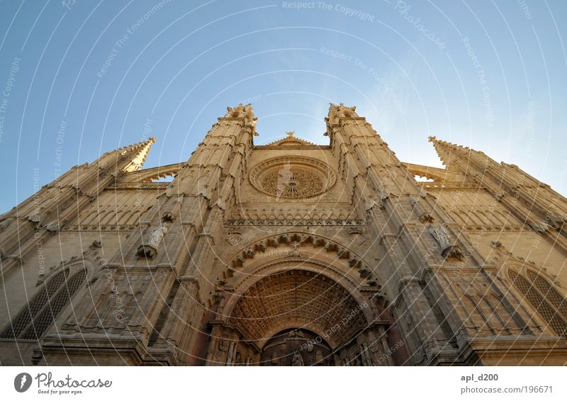 Cathedral Vacation & Travel Tourism Summer Summer vacation Art Culture Palma de Majorca House (Residential Structure) Church Dome Tourist Attraction Stand