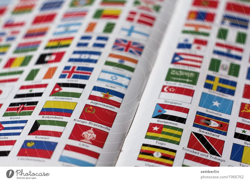 multicultural Book Multicoloured Colour Encyclopedia Deserted Nationalities and ethnicity Patriotism Civic pride Copy Space Flag Landmark Globalization