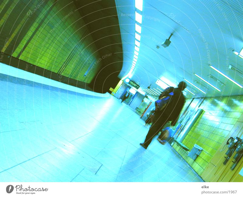 ready for departure Underground Man Transport Human being Walking