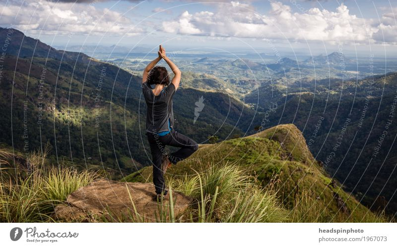 Yoga at Little Adam's Peak, Ella, Sri Lanka Lifestyle Joy Happy Healthy Healthy Eating Athletic Fitness Harmonious Well-being Relaxation Meditation