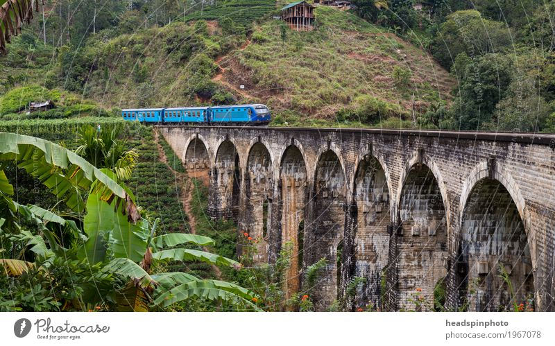 Demodara Nine-Arches-Bridge near Ella, Sri Lanka ella Manmade structures Tourist Attraction Landmark Monument Traffic infrastructure Public transit Logistics
