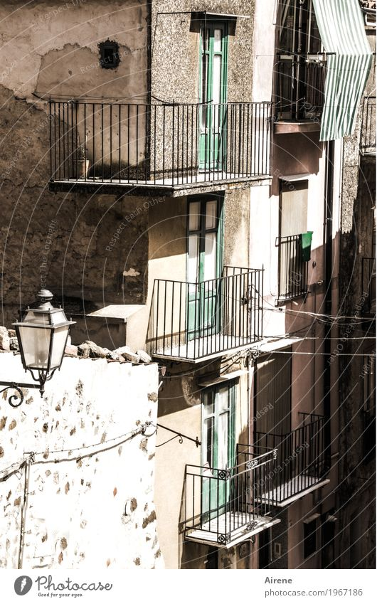 broken and rebuilt. Living or residing Flat (apartment) House (Residential Structure) Redecorate Sicily Italy Village Small Town Old town Deserted Ruin