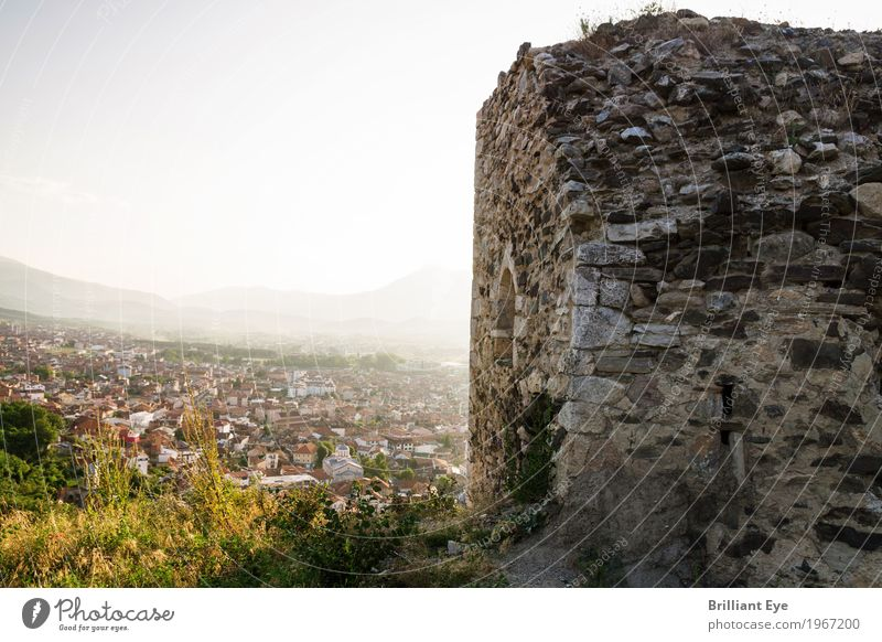Castle ruin of the town Prizren, Kosovo Vacation & Travel Tourism Trip Far-off places Freedom Summer Hill Rock Europe Town Outskirts