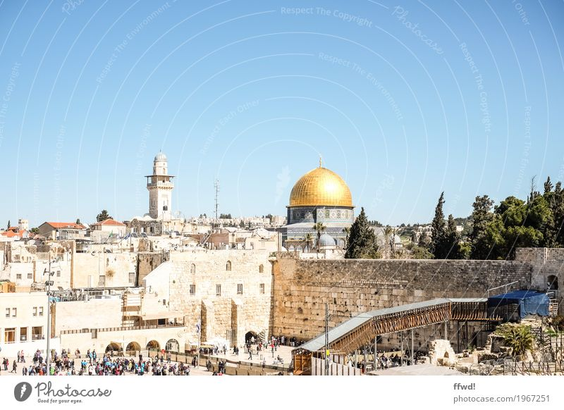 Jerusalem Vacation & Travel Tourism Trip Far-off places Sightseeing Human being Crowd of people Culture West Jerusalem East Jerusalem Israel Town Capital city