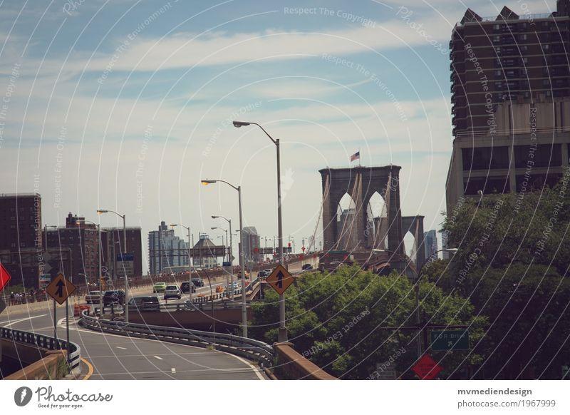 brooklyn bridge Street Bridge Vehicle Car Driving Brooklyn Bridge New York City USA Colour photo Exterior shot