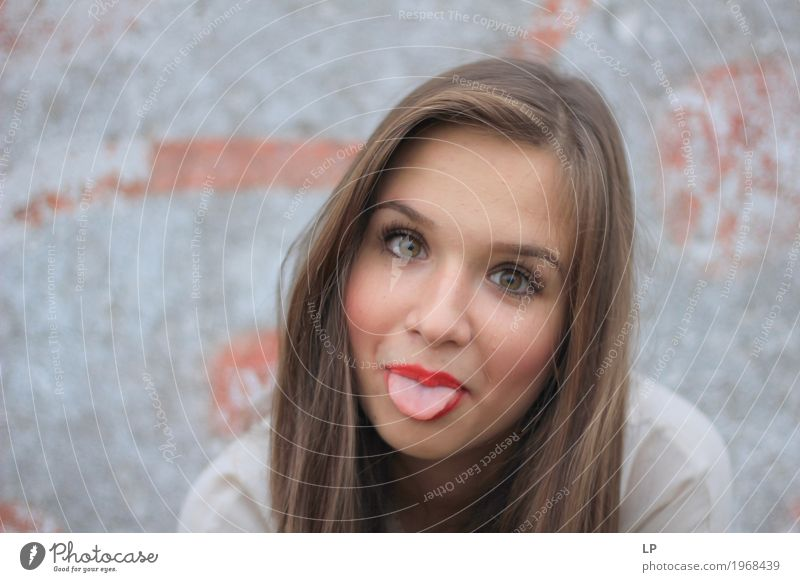 tongue out Lifestyle Style Joy Leisure and hobbies Playing Feminine Young woman Youth (Young adults) Brothers and sisters Family & Relations Friendship Adults