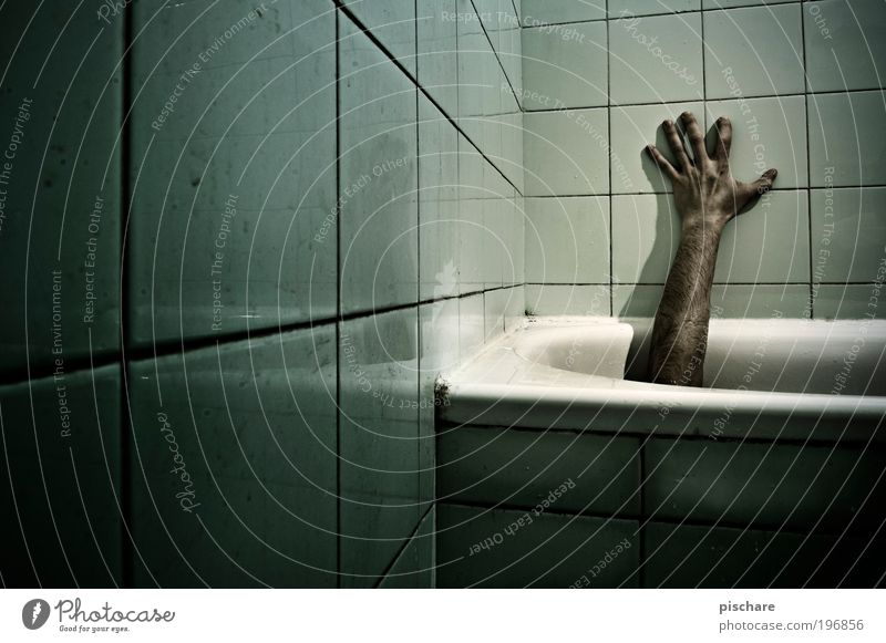 Green Hand Adults Dark Death Fear Arm Dirty Masculine Crazy Dangerous Broken Threat Bathtub Touch Creepy