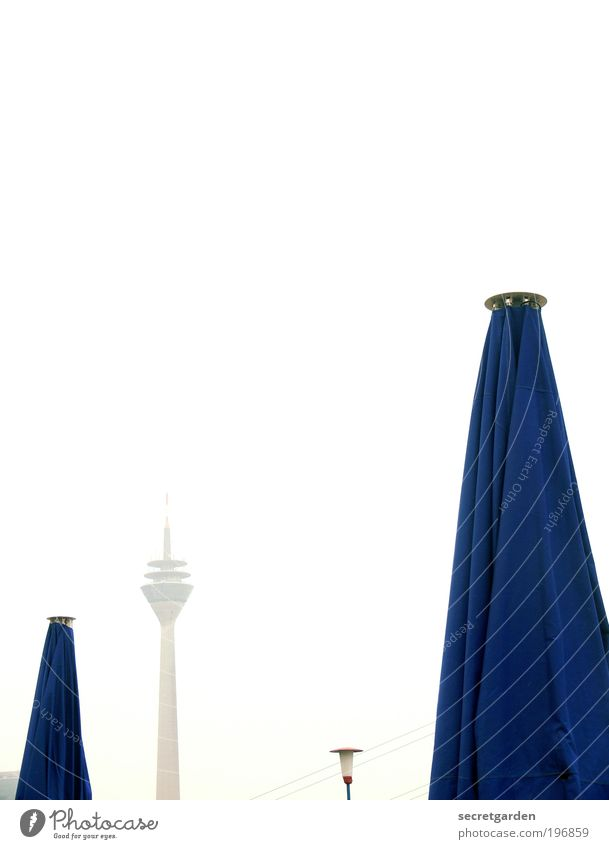 Vacation & Travel Blue White Beach Design Esthetic Vantage point Tall Closed Beautiful weather Might Gastronomy Cloth Wanderlust Cloudless sky Restaurant
