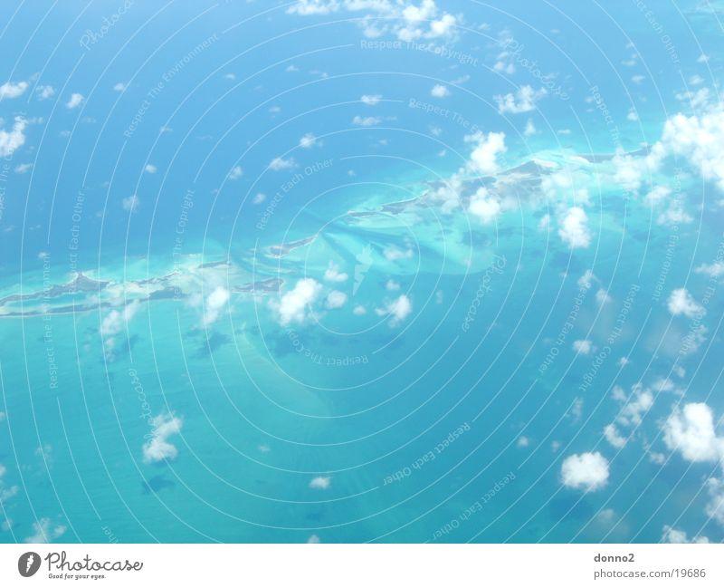 Cuba flight Bahamas Clouds Airplane