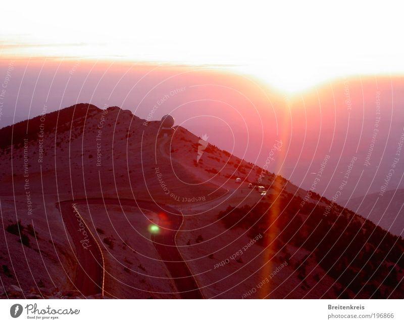 Mont Ventoux - un soir... Vacation & Travel Trip Far-off places Mountain Weather station Nature Landscape Earth Horizon Sun Sunrise Sunset Sunlight Summer