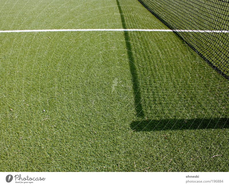 Long live the sport Sports Ball sports Success Loser Soccer Tennis Net Sporting Complex Green Line Lined Artificial lawn Colour photo Abstract Pattern
